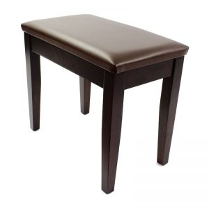 """CODA"" Piano Stool with Book Storage - Satin Rosewood"