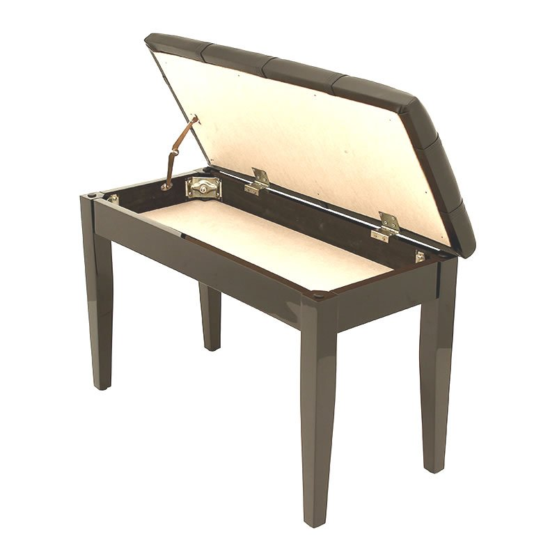 """DOLCE"" Piano Stool with Music Book Storage - Polished Ebony"