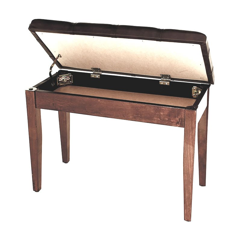 """DOLCE"" Piano Stool with Music Book Storage - Polished Walnut"
