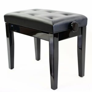"""PRIMA"" Adjustable Piano Stool - Polished Ebony"