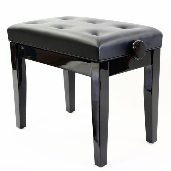 """""""PRIMA"""" Adjustable Piano Stool - Polished Ebony"""