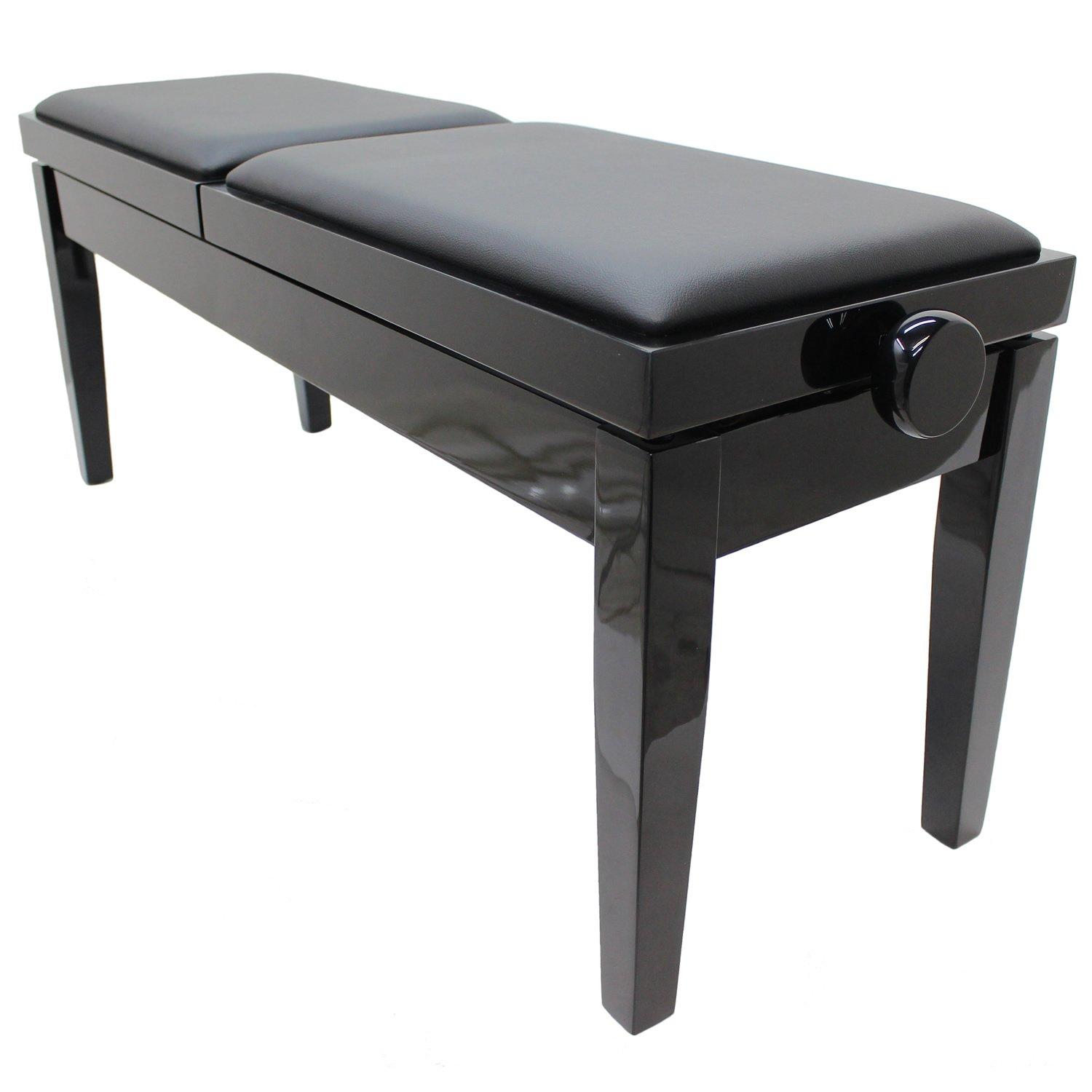"""DUET"" Adjustable Piano Stool - Polished Ebony"