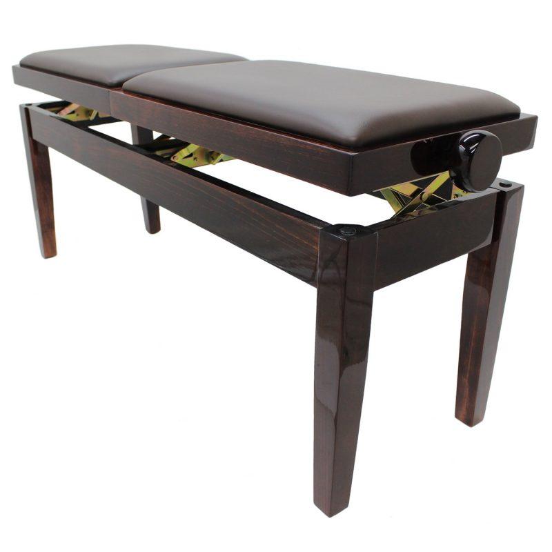 """""""DUET"""" Adjustable Piano Stool - Polished Mahogany"""