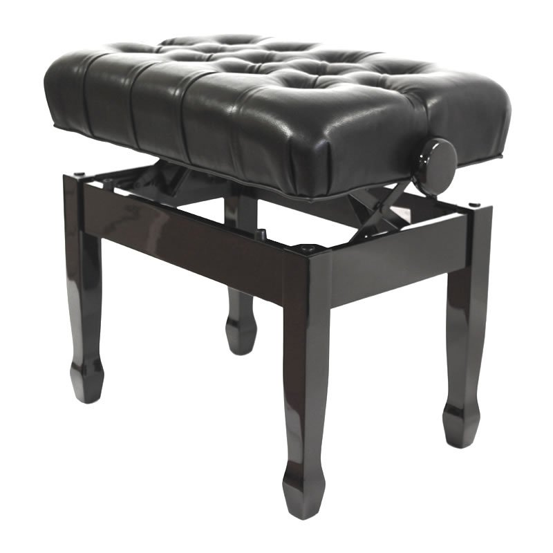 """CADENZA"" Adjustable Piano Stool - Polished Ebony"