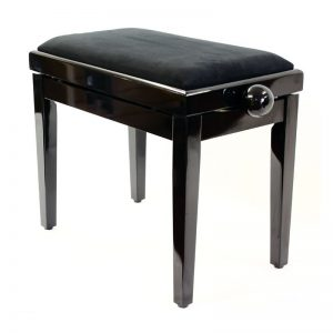 """LEGATO"" Adjustable Piano Stool - Polished Ebony"