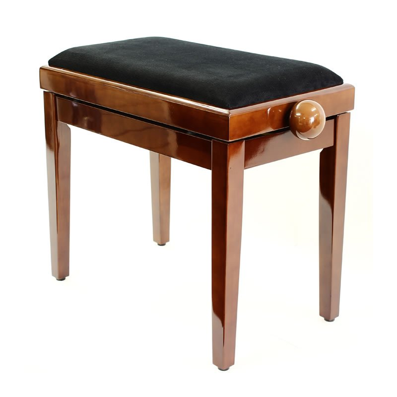 """LEGATO"" Adjustable Piano Stool - Polished Walnut"