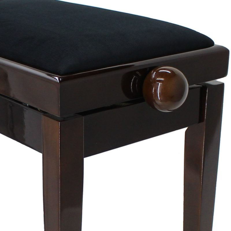 LEGATO DUET Adjustable Piano Stool, Polished Walnut - FREE DELIVERY