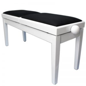Steinhoven LEGATO DUET Adjustable Piano Stool (Polished White)