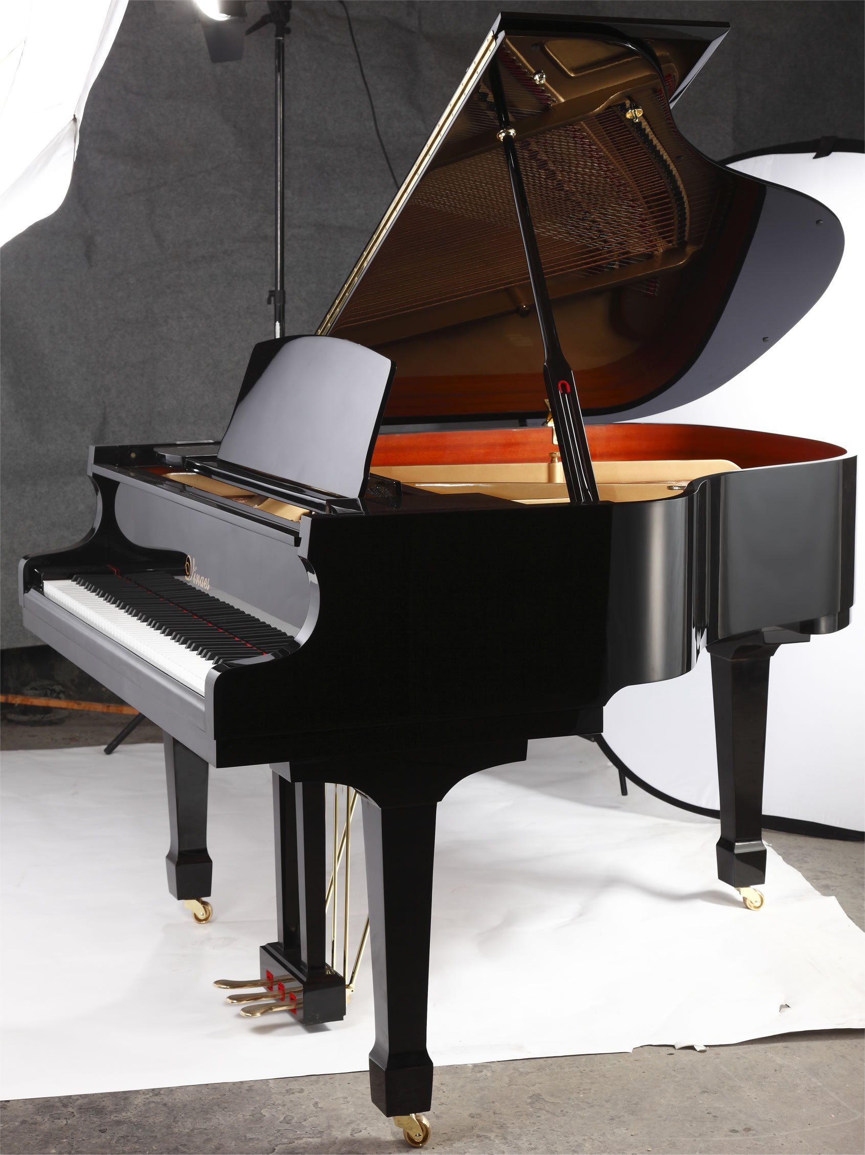 "Steinhoven SG148 Grand Piano, Polished Ebony (148cm, 4'9"") - FREE DELIVERY"