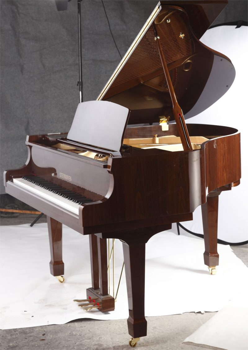 """Steinhoven SG148 Grand Piano, Polished Walnut (148cm, 4'9"""") - FREE DELIVERY"""