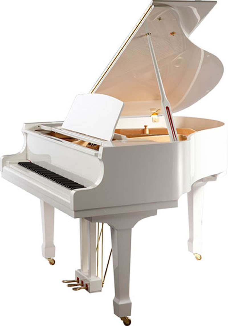 "Steinhoven SG148 Grand Piano, Polished White (148cm, 4'9"") - FREE DELIVERY"