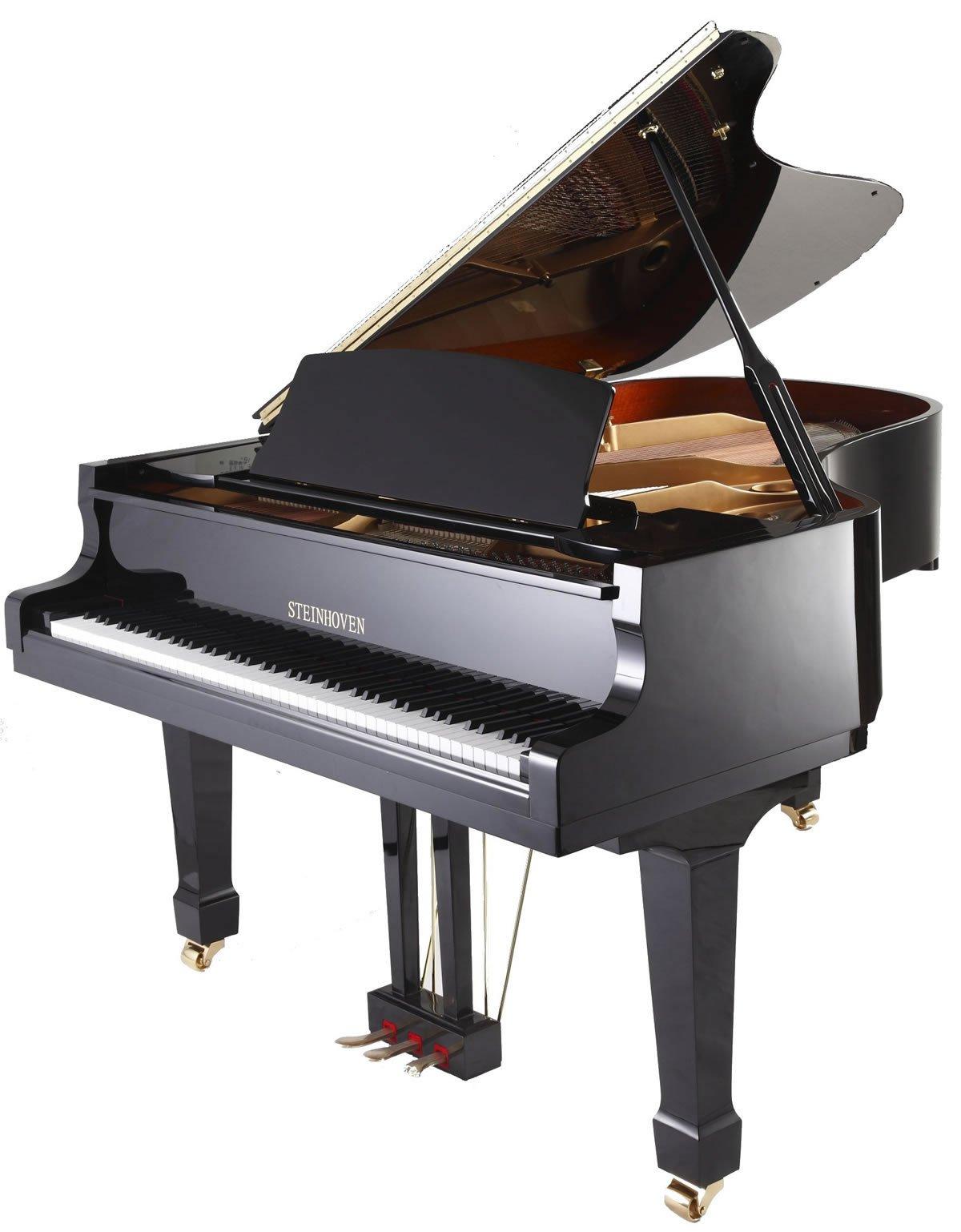 "Steinhoven SG148 Grand Piano, Polished Ebony (148cm, 4'9"") - FREE DELIVERY"