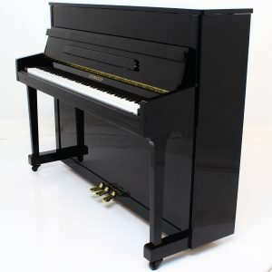 "Steinhoven SU113 Upright Piano, Polished Ebony (113cm, 44.5"") - FREE DELIVERY"