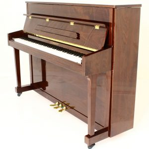 "Steinhoven SU113 Upright Piano, Polished Walnut (113cm, 44.5"") - FREE DELIVERY"