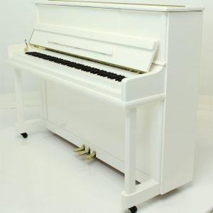 "Steinhoven SU113 Upright Piano, Polished White (113cm, 44.5"") - FREE DELIVERY"