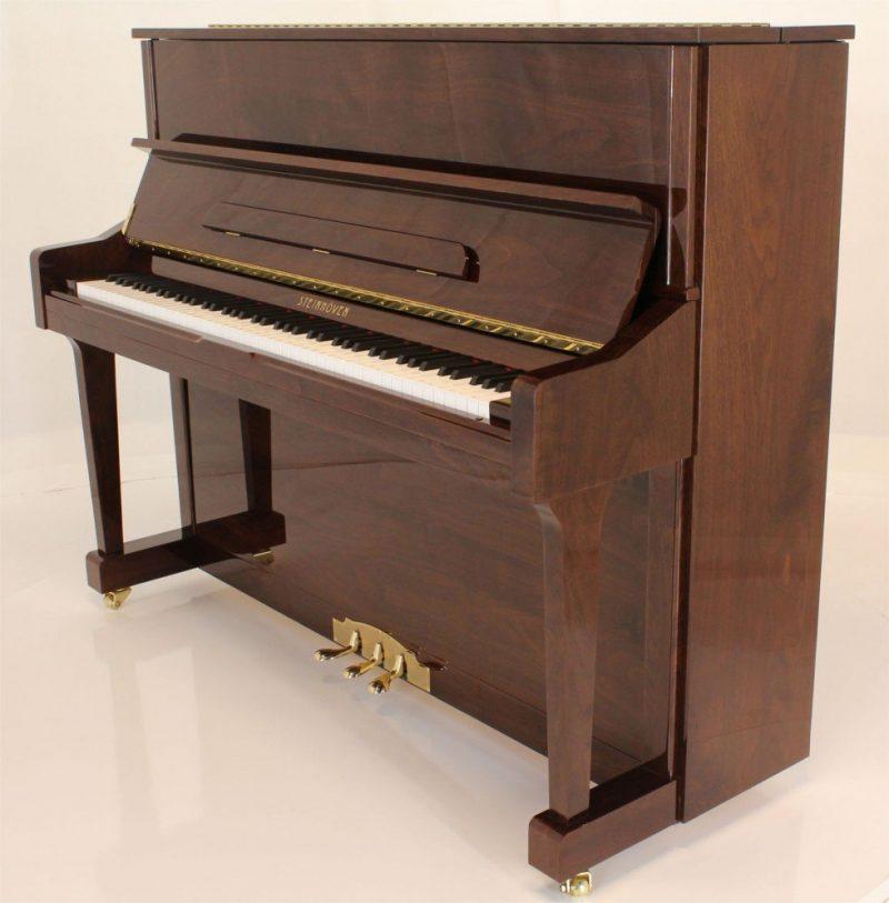 "Steinhoven SU121 Upright Piano, Polished Walnut (121cm, 47.5"") - FREE DELIVERY"