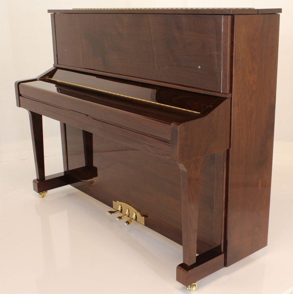 "Steinhoven SU121 Upright Piano, Polished Walnut (121cm, 47.5"") - FREE DELIVERY"