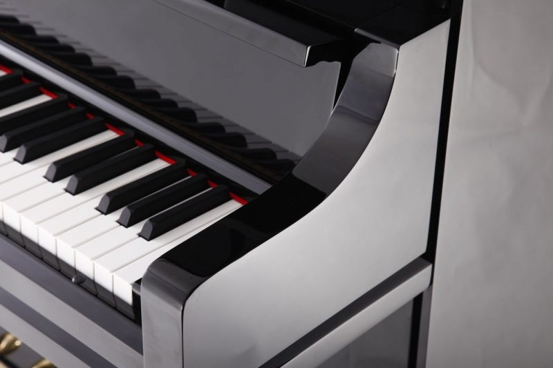 "Steinhoven SU125 Upright Piano, Polished Ebony (125cm, 49"") - FREE DELIVERY"